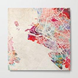 Alameda map California CA painting Metal Print