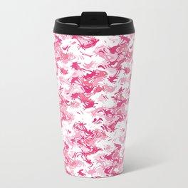 Pink Fantasy Digital Painting Metal Travel Mug