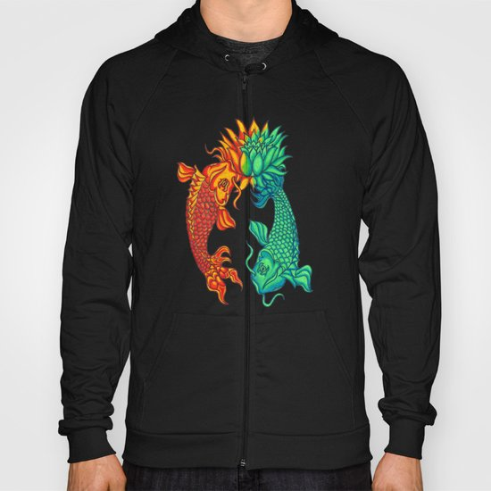 Koi Fish Lotus Hoody