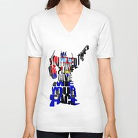 optimus prime V-neck T-shirts featuring Optimus Prime by Ayse Deniz