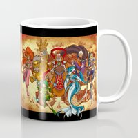 hyrule Mugs featuring Seven Sages of Hyrule by Jeffrey Carrion