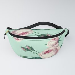 Roses Mint Green + Pink Fanny Pack