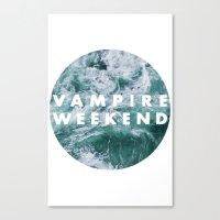 vampire weekend Canvas Prints featuring Vampire Weekend by Van de nacht