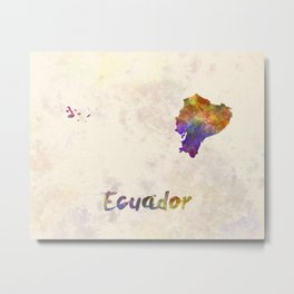Ecuador in watercolor Metal Print