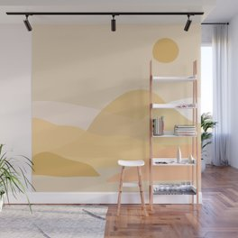 painted hills 2 abstract Wall Mural