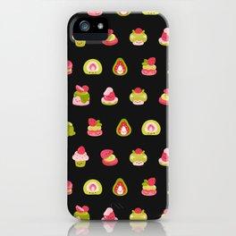 Strawberry Matcha - black iPhone Case