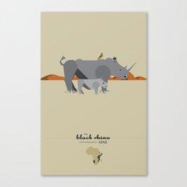 Endangered: The Black Rhino Canvas Print