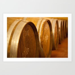 Sicilian Wine Casks Art Print
