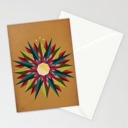 Half Circle Stars Stationery Cards