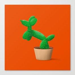 Cactus dog Canvas Print