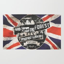 God save the forest Rug