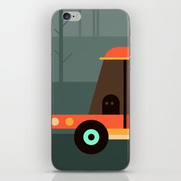 Car in the forest iPhone Skin