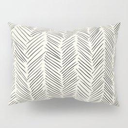 Herringbone Black on Cream Pillow Sham