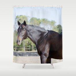 Beautiful in Blac Shower Curtain