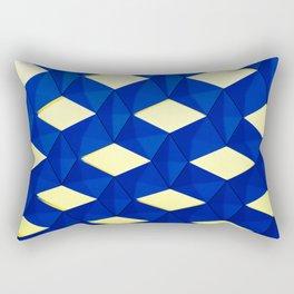 Trapez 2/5 Blue & Yellow by Brian Vegas Rectangular Pillow