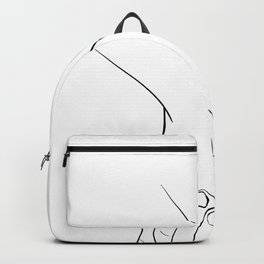 Holding hands,love illustration,white background Backpack