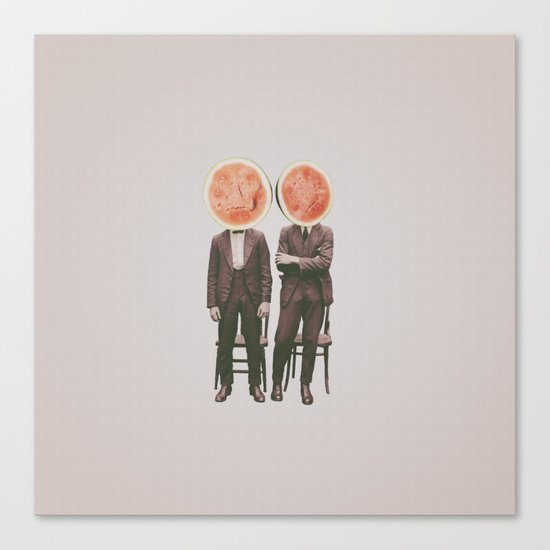 Watermelon Mugshot Canvas Print