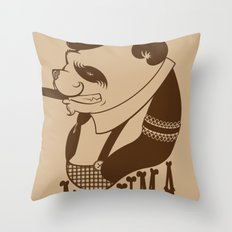 Panda Palooka Pitchin Woo Throw Pillow
