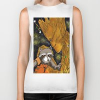 superheros Biker Tanks featuring We are Groot by Tiffany Saffle