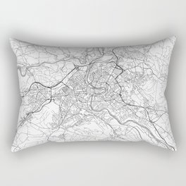Bern Map Line Rectangular Pillow