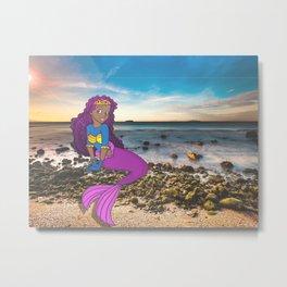 Mermaid on the Beach Metal Print