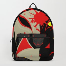 Japanese Fox Mask Backpack