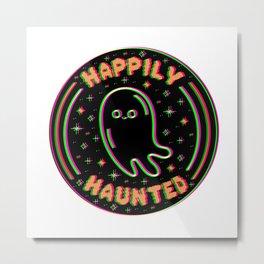 Happily Haunted 3D Metal Print