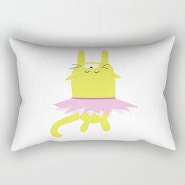 Sleepy Kitty Dancer Rectangular Pillow