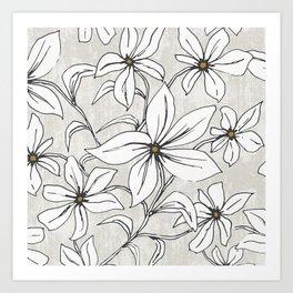 Lilium - Botanical Floral Stone Art Print