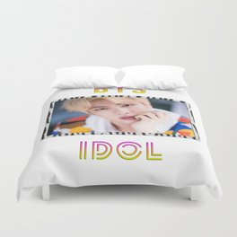 BTS Song IDOL Design - Jin Duvet Cover