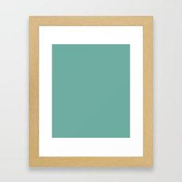 Green Sheen - solid color Framed Art Print