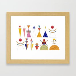 Kandinsky sketch for Gate of Kiev Framed Art Print
