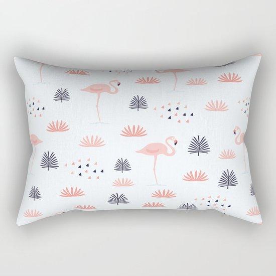 Flamingos Pattern Rectangular Pillow