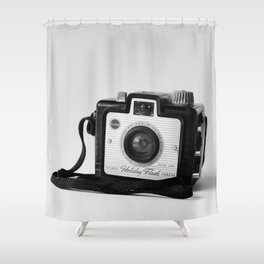 Brownie Holiday Shower Curtain