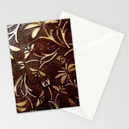 Old West - Embossed and gilded leather - original painting Stationery Cards