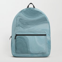 Agate blue and grey abstract Backpack