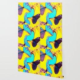 Shiny and colorful butterflies #decor #buyart #society6 Wallpaper