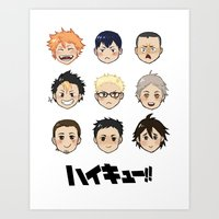haikyuu Art Prints featuring Haikyuu!! by parkers