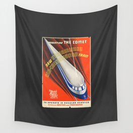 The Comet. A Old train railroad. Wall Tapestry
