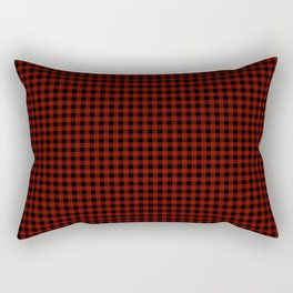 Vintage New England Shaker Small Barn Red Buffalo Check Plaid Rectangular Pillow