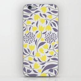 Yellow flowers field iPhone Skin