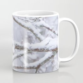 Blue Tit On A Snowy Branch Winter Scene #decor #society6 Coffee Mug