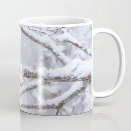 Blue Tit On A Snowy Branch Winter Scene #decor #society6 Coffee Mug