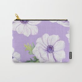 Anemones Lilac #society6 #buyart Carry-All Pouch