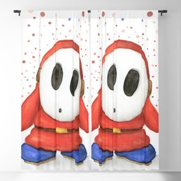 Confused Shy Guy Blackout Curtain