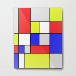 Mondrian #25 Metal Print