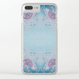 Sea Garden Clear iPhone Case