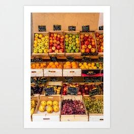 Groceries, Nice France Art Print