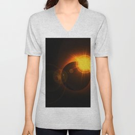 Total  Eclipse Astro Photography Unisex V-Neck