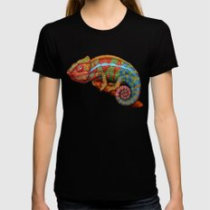 Chameleon 3 Black SMALL Womens Fitted Tee